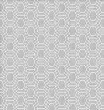 35x140cm Restje tafelzeil honingraat zilver/grijs