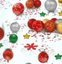 90x140cm Restje tafelzeil Kerstbal ornament