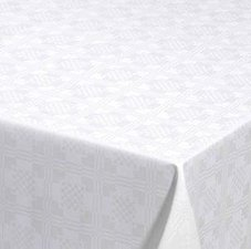 Ovaal tafelzeil Damast vierkantjes
