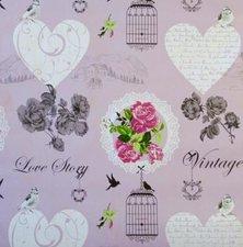 Tafelzeil vogelkooi roze