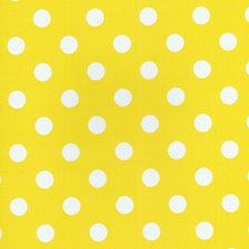 SALE tafelzeil geel met witte stippen 130x140cm