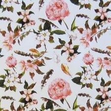 50x140cm Restje tafelzeil bloemen en veren