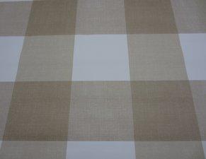 Rond tafelzeil blokken bruin beige (140cm)