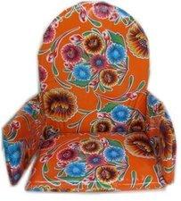 Kitsch Kitchen stoelverkleiner floral oranje