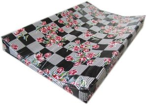 Kitsch Kitchen aankleedkussen tulpen zwart