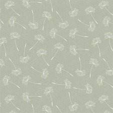 Groot rond tafelzeil pluis bloemen groen (160cm)
