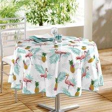 Groot rond tafelzeil flamingo en ananas (160cm)