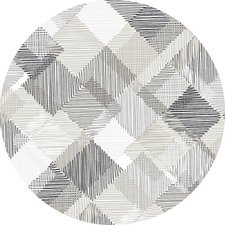 Rond tafelzeil 160cm blokjes grijs