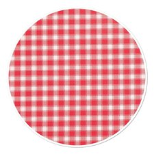 Rond tafelzeil ruitjes rood (160cm)