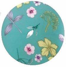 Rond tafelkleed 180cm bloem zeegroen