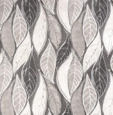 Rond tafelzeil grey leafs (ca. 137cm)
