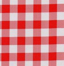 45x120cm Restje Mexicaans tafelzeil grote ruit rood