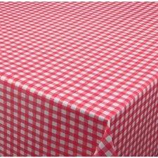 35x140 Restje tafelzeil ruitje rood Paty