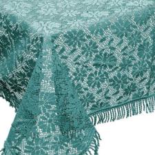 Buiten tafelkleed schuimvinyl 150x220cm zee blauw (dikke kwaliteit)