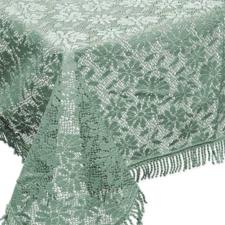 Buiten tafelkleed schuim vinyl 140x180cm salie groen (dikke kwaliteit)