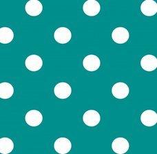 SALE tafelzeil stippen turquoise 115x140cm