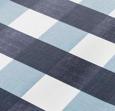 SALE tafelzeil blokken blauw 130x140cm