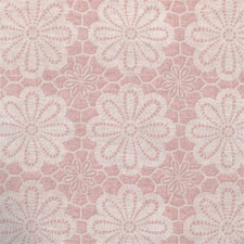 50x140cm Restje tafelzeil vintage bloemen oud roze