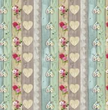 Rond tafelzeil steigerhout love blossom (140cm)