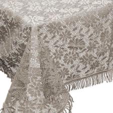 Buiten tafelkleed schuimvinyl 150x220cm kiezels khaki (dikke kwaliteit)