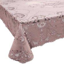 Tafelkleed buiten vinyl oud roze 152x228cm