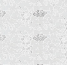 55x140cm Restje tafelzeil Rosa kant wit
