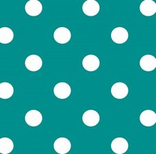 Tafelzeil stippen turquoise