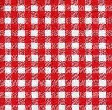 45x120cm Restje Mexicaans tafelzeil ruitjes rood
