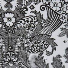 Ovaal Mexicaans tafelzeil paraiso zwart op wit