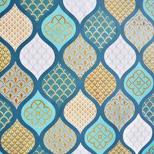 Ovaal tafelzeil Oosterse sferen groen/blauw