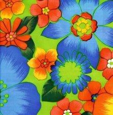 Rond Mexicaans tafelzeil Rain of flowers groen (120cm)