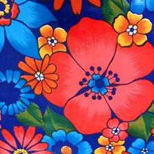 Ovaal Mexicaans tafelzeil Rain of flowers paars