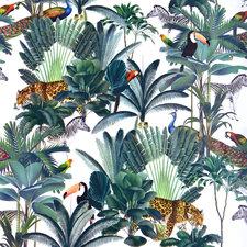 Ovaal tafelzeil tropical animals (Levering week 24)