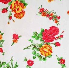 Rond Mexicaans tafelzeil rosedal wit (120cm)