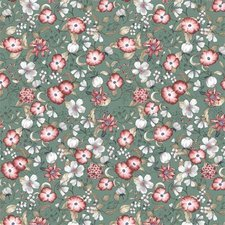 45x140cm Restje tafelzeil poppies bloemen