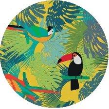 Rond tafelzeil papegaai & toekan (140cm)