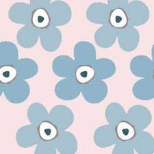 Ovaal tafelzeil Lola big flower pink puff