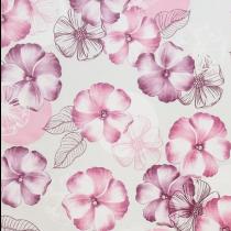 SALE tafelzeil bloemen roze/paarse tinten 145x140cm