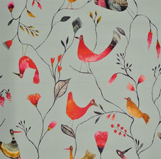 35x140 Restje tafelzeil vogeltjes mint