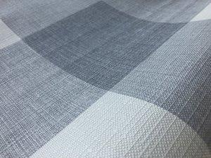 Ovaal geblokt tafelzeil grijstinten