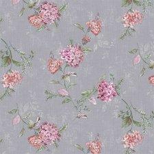 Ovaal tafelzeil romantische bloem grijs