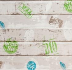 SALE Tafelzeil steigerhout Bio & green tea 100x140cm