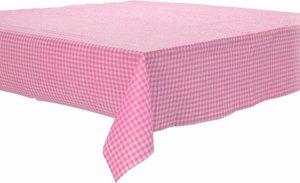 Papieren tafelkleed ruitjes roze