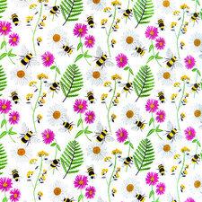 70x140cm Restje tafelzeil bijen en bloemen