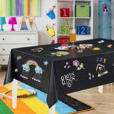 Schoolbord tafelzeil zwart 120cm breed