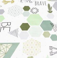 SALE tafelzeil geometrie & origami 160x140cm