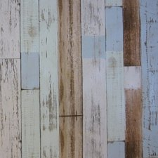 45x140cm Restje tafelzeil steigerhout blauw/bruin/grijs