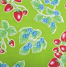 SALE Mexicaans tafelzeil aardbei groen 130x120cm