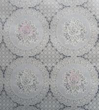 55x140cm Restje kant tafelzeil beige met roze en witte bloemen