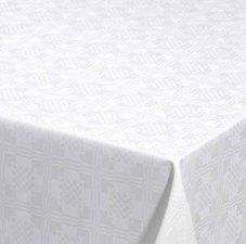 Rond tafelzeil damast vierkantjes (140cm)